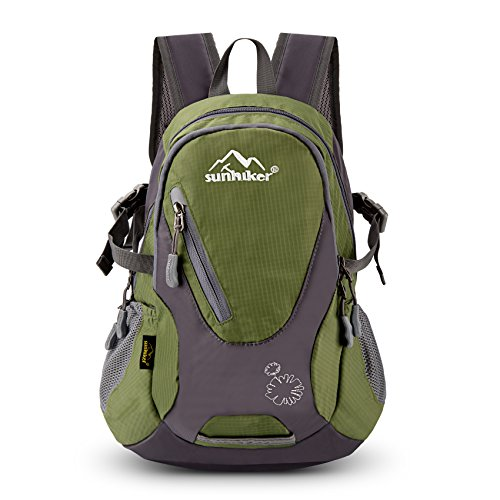Sunhiker Cycling Hiking Backpack Water Resistant Travel Backpack Lightweight Small Daypack M0714 (Navy Green) (Best Day Hiking Backpack)