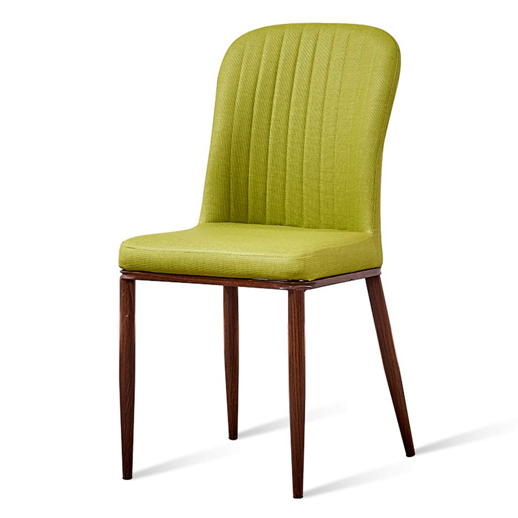 Green A Home Dining Chair Simple Imitation Wood Wrought Iron Desk Coffee Chair Soft Bag Back Chair - Chair, Home, Dining, Cafe, Lounge, Bar
