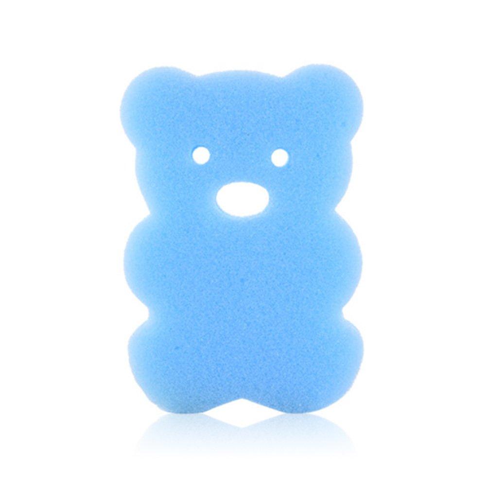 SINOTECHQIN 1PC super soft Baby spugna da bagno bambini bagnarsi scrubber Cartoon spugna da bagno sfregamento Loofah scrub doccia neonato, Blue, 10 * 7 * 2.5cm
