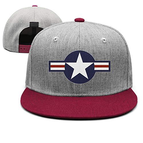 jdadaw United States Air Force Roundel Woman Man Adjustable Flat Bill Baseball Caps Cool Hat Trucker Hats ()