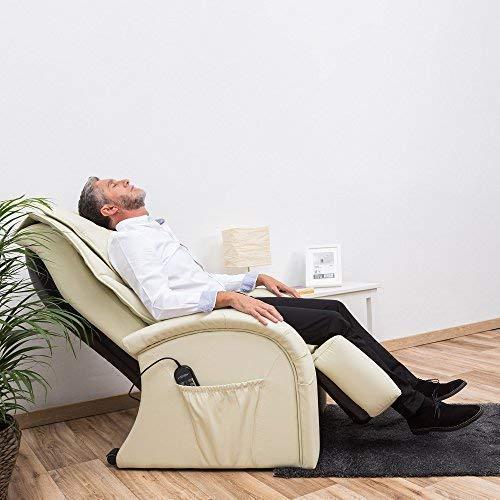KARMA® Sillón de Masaje 2D - Beige (nuevo modelo 2019) – Sillon de relax con 5 programas de masajes Shiatsu - Sistema de masaje en piernas y vibración ...