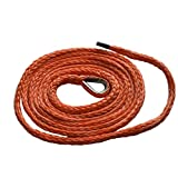 "1/4""*10ft Synthetic Plow Lift Rope,Synthetic Winch Rope,ATV Winch Cable,ATV Snow Plow LIft Rope 6500lbs (Orange)"