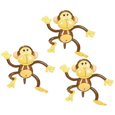 Rhode Island Novelty 27 Inch Inflatable Monkeys Set of 3: Toys & Games