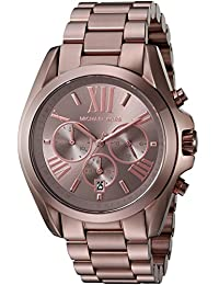Michael Kors Women's Quartz Stainless Steel Automatic Watch, Color:Brown (Model: MK6247)