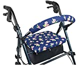 Crutcheze Pink Petite Floral Rollator Walker Seat and Backrest Covers Designer Fashion Accessories Made in USA