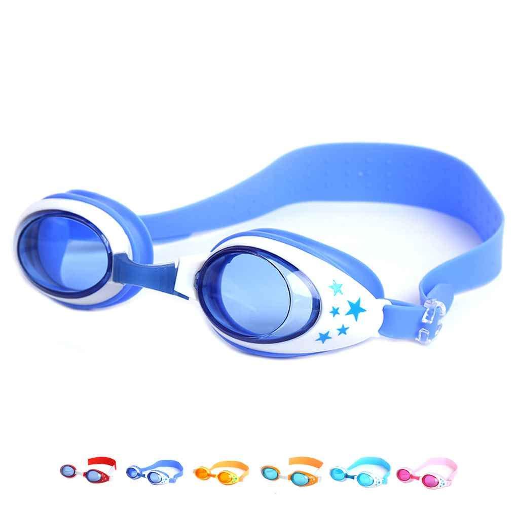 Junecat Children Boy Girl Soft Silicone Swimming Goggles Kids Safety Outdoor Eyewear Anti-fog Waterproof Beach Swim Glasses