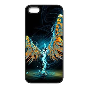 Magical winged man Phone Case for iPhone 5S(TPU)