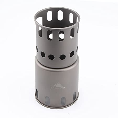TOAKS Titanium Backpacking Wood Burning Stove small