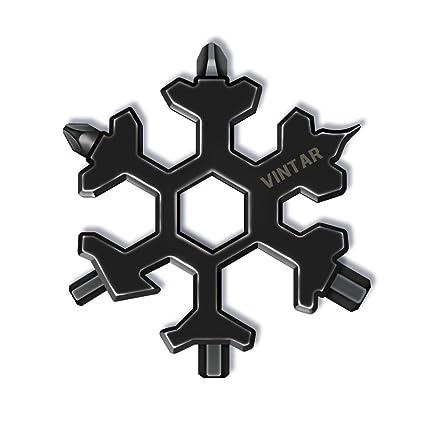Vintar 18 In 1 Snowflake Multi Tool Keychain Screwdriver Bottle