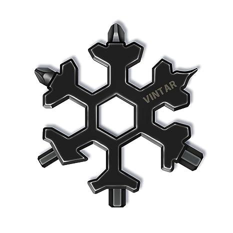 Amazon.com: Vintar 18 en 1 Snowflake Multi-tool, llavero ...