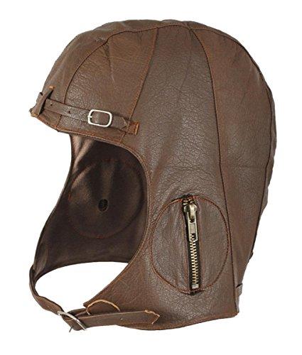 Rothco Leather Pilot Helmet, Black, X-Large/XX-Large ()