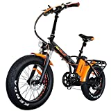 Addmotor MOTAN Folding Electric Bike 750W 20 Inch Fat Tire Electric Bicycle 48V 11.6Ah Lithium Battery Snow Beach Pedal Assist Front Fork Suspension M-150 Platinum 2018 Ebike for Adults (Orange) Review