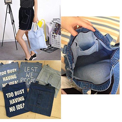 Handmade Cowboy-Tasche, einfaches Waschen Tasche, Einkaufstasche , J