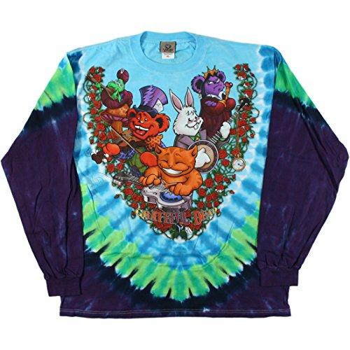Men's Grateful Dead Wonderland Jam Band Long Sleeve T-Shirt (Medium)