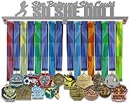 VICTORY HANGERS Runner Finisher vs Girl Power Achievements Medal Hanger Display Rack - 17.72 in - Various Mode