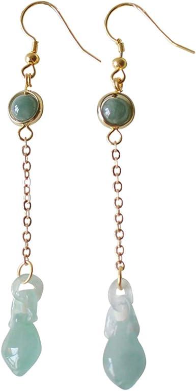 Oriental Earrings Jade Bead Earrings White Jade Earrings Unique Jewelry Jade Jewelry Floral Earrings Jade Earrings Vintage Earrings