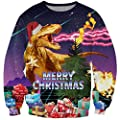 Uideazone Unsiex 3D Printed Pullover Sweatshirts Graphic Long Sleeve Shirts