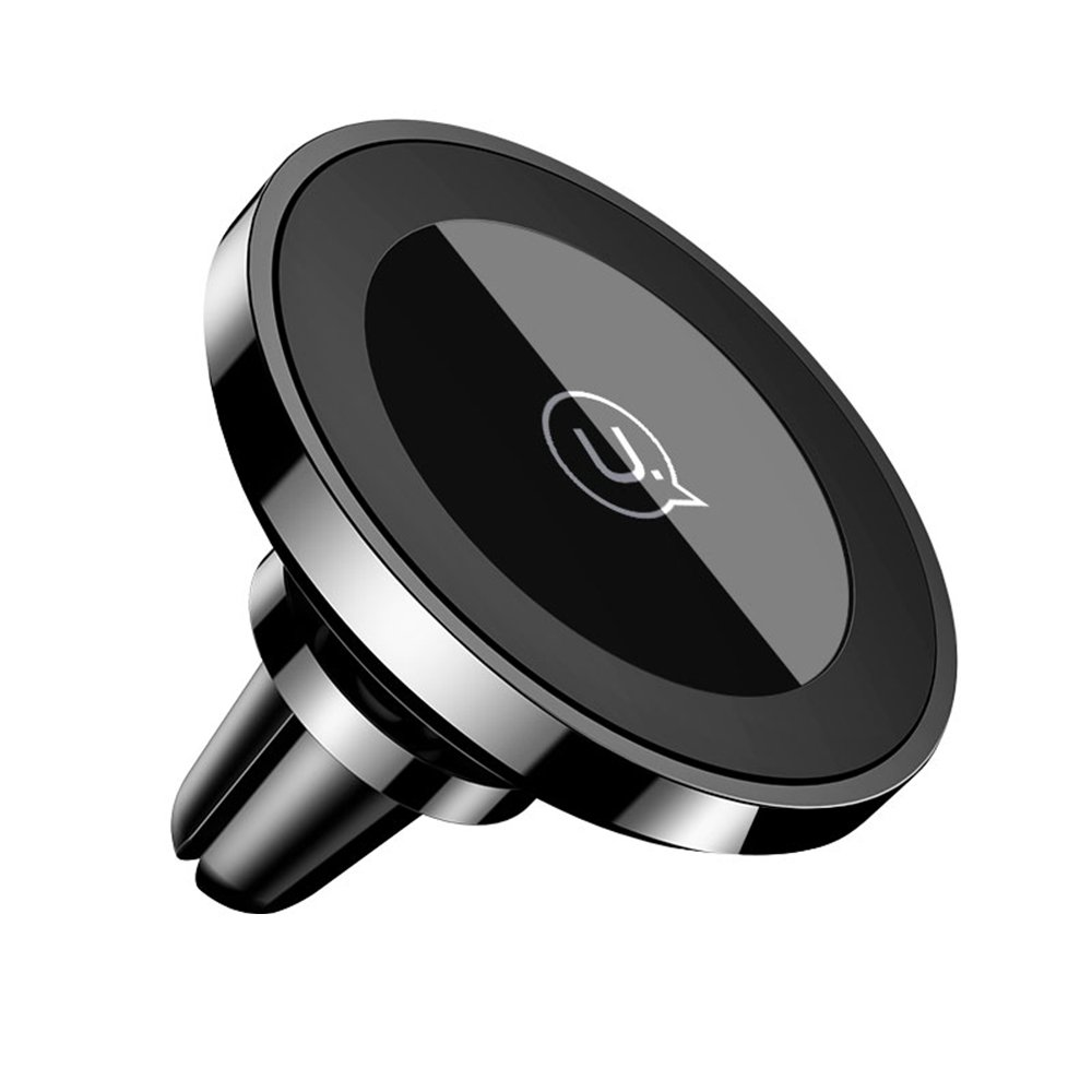 Car Phone Holder and Charger, USAMS Qi Wireless Charger Car Phone Air Vent Holder, Strong Magnet Phone Holder for iPhone X/8/8 Plus, Samsung Galaxy S9/S9 Plus/S8/S8 Plus and All Qi-Enabled Phones