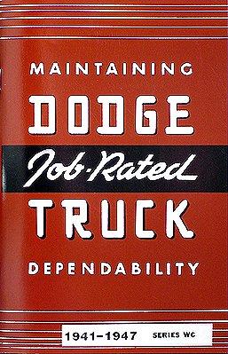 1941-1947 Dodge Pickup Truck Reprint Owner's Manual