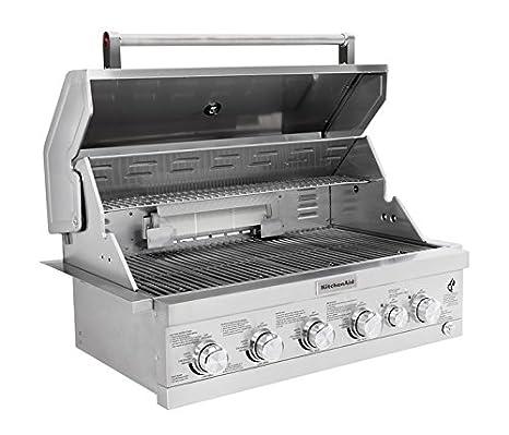 Amazon.com: KitchenAid 740-0781 Built Propane Gas Grill, Stainless Steel: Garden & Outdoor