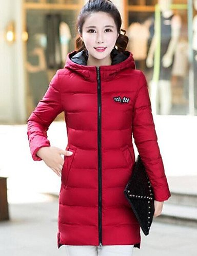 2XL Sleeve Women's White Polyester Duck YRF Down Solid Long Simple Pink Red Down Casual Coat Daily Black 8a7BfpgBwq