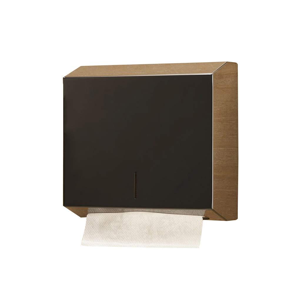Soporte de papel higieacute;nico, caja de tejido de de de acero inoxidable de gran capacidad montado en la pared Bandeja de papel higieacute;nico bandeja Bantilde;o de  caliente el KTV caja de tejido sin perforacioacute;n ( Color : 4 ) dc7394