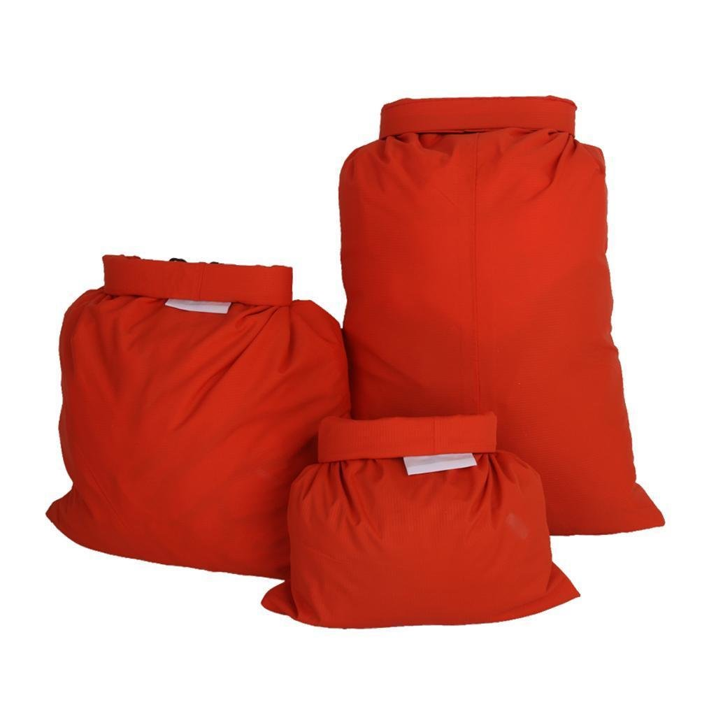 FidgetFidget Kayak Orange Set of 3Pcs Waterproof Dry Bag for Camping Canoeing Rafting