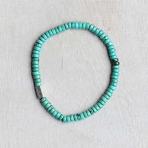 lutasiman Men's Small Abacus Beads Bracelet Bangle 7 Color into fine (b Turquoise - Women