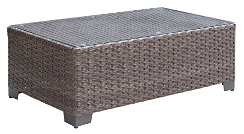 HOMES: Inside + Out IDF-OS1842BR-C Madison Patio Coffee Table, Brown