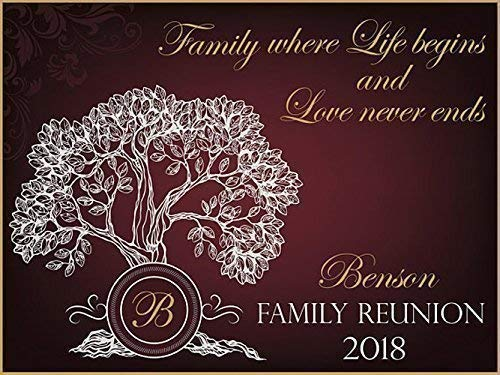 (Personalized Family Reunion Banner, Family Tree Banner, Party Decoration, Family Reunion Signs, Family Reunion, Family Banner, Handmade Party Supply Poster Print, Size 24x36, 48x24, 48x36, 24x18 )