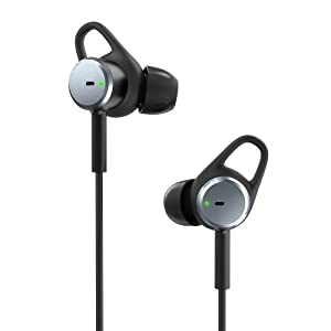 TaoTronics Active Noise Cancelling Earbuds, in-Ear Headphones with 15 Hours Playtime Aware Mode, HiFi Stereo Bass, Wired Headphones with Built-in Microphone, Remote