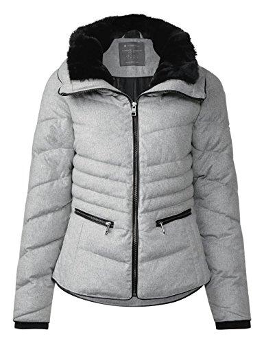 Grau Women's One Shaped Misty Street Padded 11030 Wool Jacket Grey Ojp Melange qdRx54w50