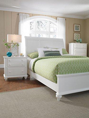 Broyhill Sleigh Bed - Broyhill Hayden Place White Sleigh Storage Bed, Queen