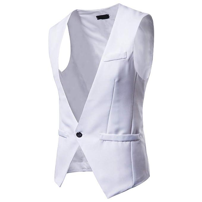 Yvelands Chalecos Activos de liquidación, Camisas para Hombre Chaleco de Traje de Chaqueta de Chaleco