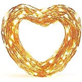 33 ft White LED Decorative Lights, eufy Starlit String Light, Indoor and Outdoor , IP65 Water-Resistant, Decoration for Bedroom, Patio, Holiday, Wedding, and Party ( Copper Wire )