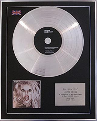 LADY GAGA - Limited Edition CD Platinum Disc - BORN THIS WAY