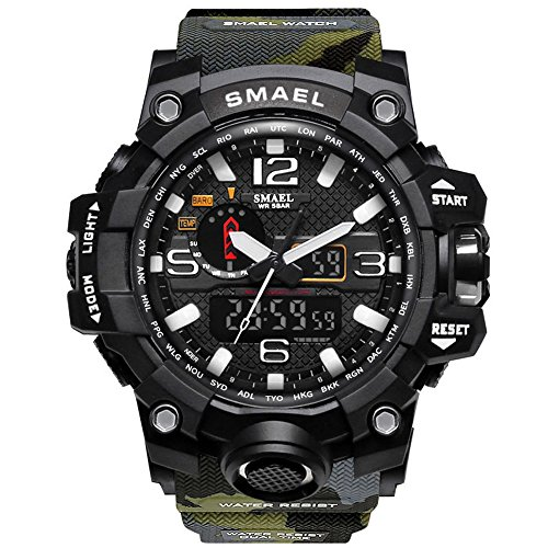 Bounabay Men's Military Digital Sport Watch Water Resistant for sale  Delivered anywhere in USA