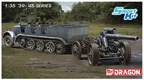 (Dragon 1/35 World War II German Army Sd.Kfz.7 8 Ton Half Track & s.FH18 Howitzer Plastic Model DR6918)