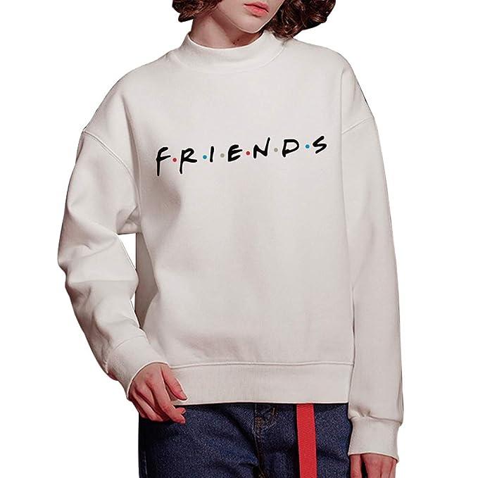 Sudadera Friends Mujer Serie Sin Capucha Casual Pullover Hip Hop Danza Camisetas Mejores Amigas Manga Larga