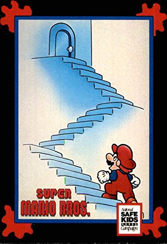 1991 Trading Card Treats National Safe Kids Campaign #19 Super Mario Bros. Stair Safety