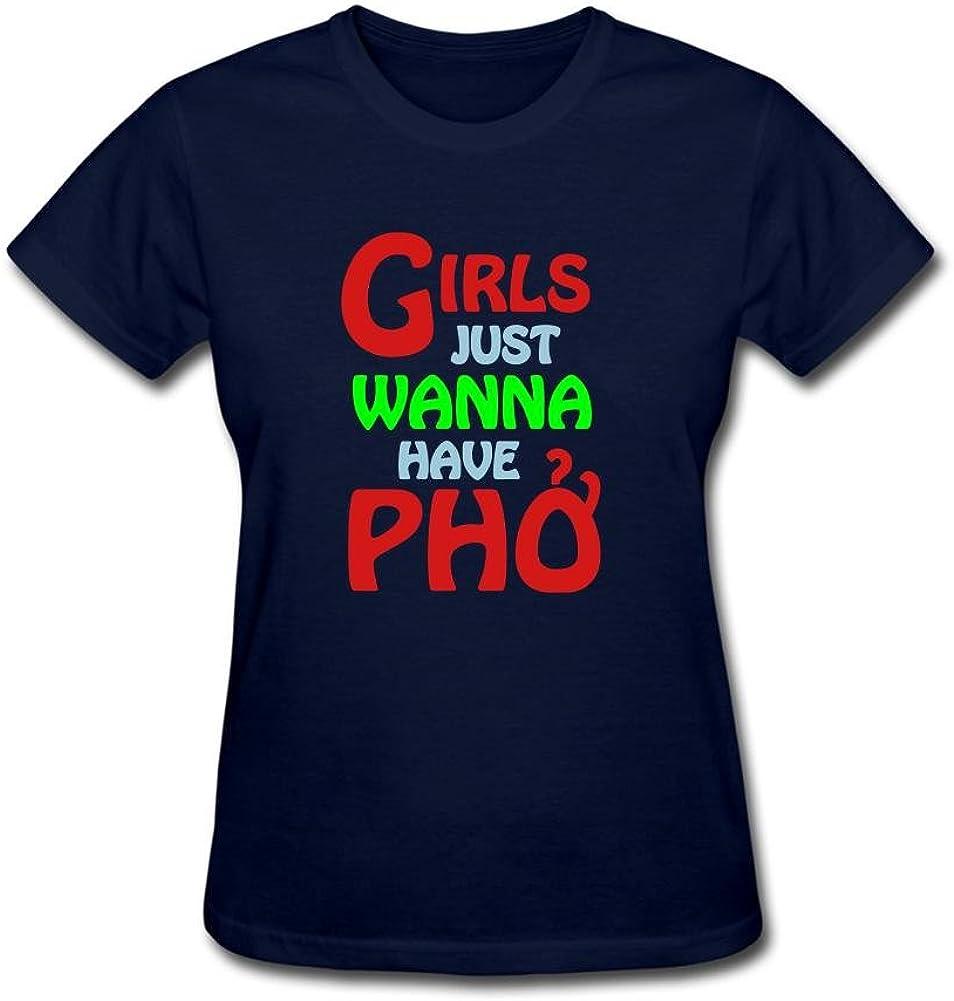 Women's Girls Just Wanna Have Pho Short Sleeve T-Shirt