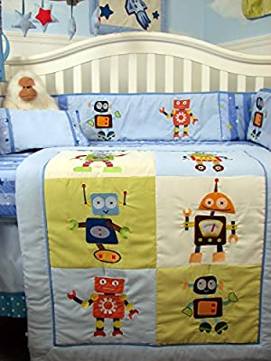 Mechanical Heros 14 Piece Boy Crib Bedding Set from SoHo Designs