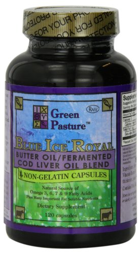 Blue Ice Royal Butter Oil / Fermented Cod Liver Oil Blend - 120 Capsules (Fermented Cod Liver Oil And Butter Oil)