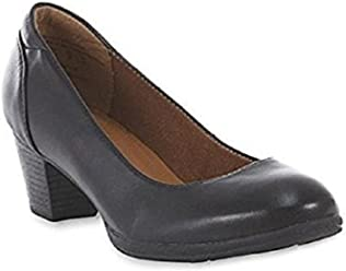 Thom McAn Womens Clara Dress Black Leather Pump 10W