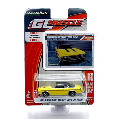 - GL Muscle 1969 Chevrolet YENKO COPO Chevelle (Daytona Yellow) Series 14 2015 Greenlight Collectibles Limited Edition 1:64 Scale Die-Cast Vehicle & Collector Trading Card