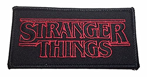 - Stranger Things Logo 4 Inch Wide Embroidered Iron On Patch
