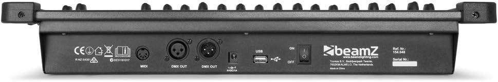 beamZ DMX384 Controlador DMX de 384 canales (entradas MIDI USB, 30 ...