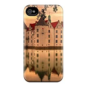 Faddish Phone Magnificent Castle Reflection Hdr Case For Iphone 4/4s / Perfect Case Cover