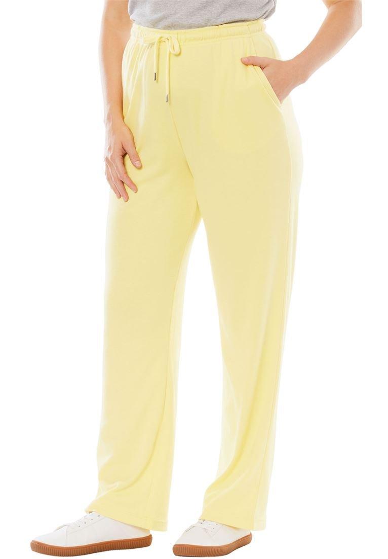 Woman Within PANTS レディース B077THD92H 3X|Lemon Cream Lemon Cream 3X