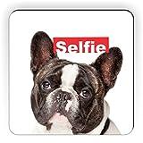 Rikki Knight French Bulldog Selfie Design Square Fridge Magnet